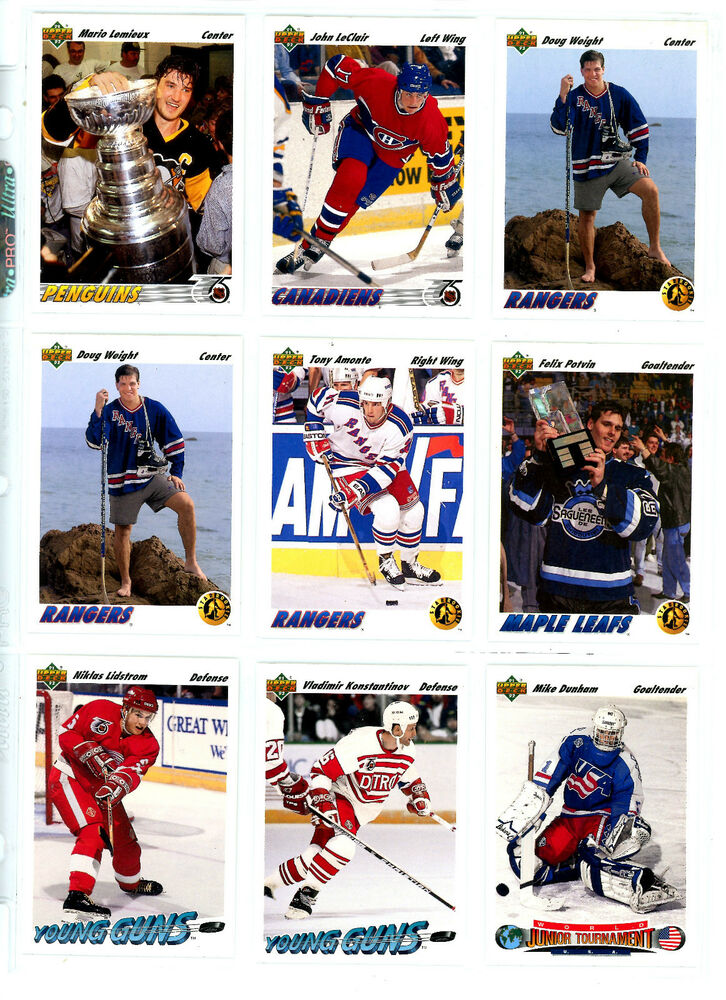 1991-92 UPPER DECK NHL HOCKEY KEY SINGLES & INSERTS U-PICK, NM/M