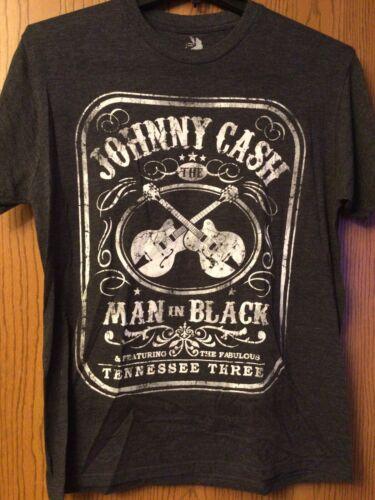 Johnny Cash - Gray Shirt.  L.