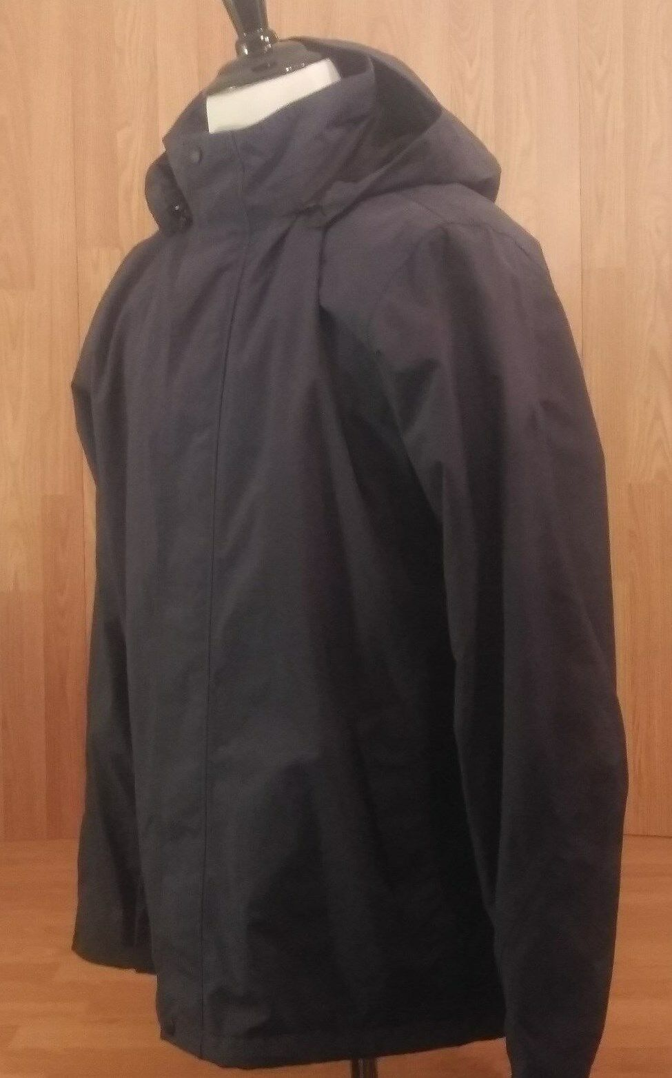 Nice Eddie Bauer Hooded Coat,Fleece Lined, Rip Stop,Waterproof, bluee -  Tall Lrg
