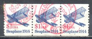 US Stamp (L212) Scott# 2468, Used HR, Nice Coil Strip, Plate No 3