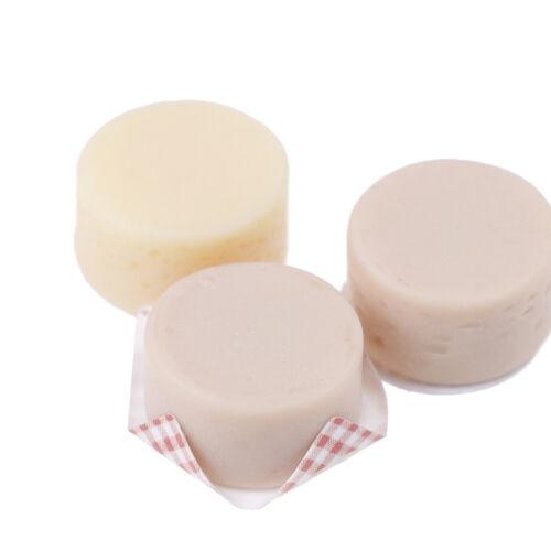 3Pcs Mini quesos de simulación para la decoración de alimentos 1:12 Casa de Muñecas Cocina