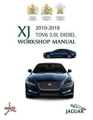 2010 2018 Jaguar Xj Tdv6 3 0l Diesel Official Workshop Manual Wiring Diagrams Ebay