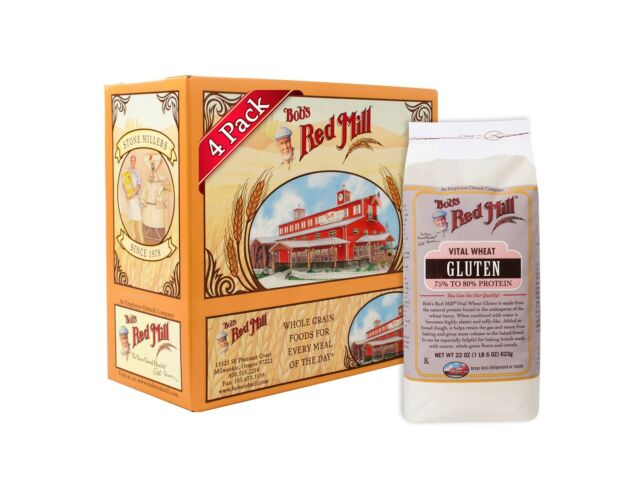 Bob's Red Mill Vital Wheat Gluten Flour 22 Ounce (Pack of 4) Free Shipping
