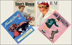 4 Miniature /'1950/'s/'  Magazines Barbie Blythe Fashion Doll size 1:6 playscale