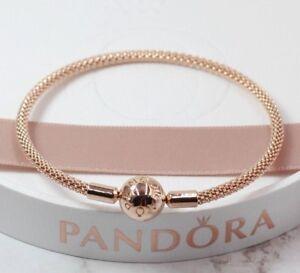 8f697fd92 Pandora Rose - 21 cm - Moments Rose Mesh Bracelet - 586543 + Pandora ...