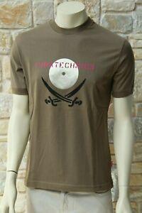 MOSCHINO-Jeans-Uomo-100-Cotone-Verde-Oliva-Taglia-L-T-SHIRT-SPEDIZIONE-GRATUITA-NUOVO-CON-ETICHETTA
