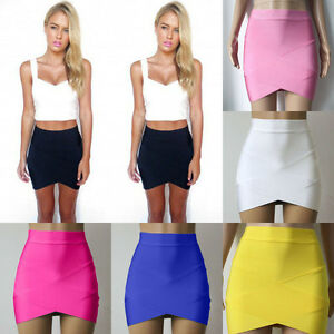 2ff9bd3855 Image is loading Ladies-Bandage-Bodycon-Pencil-Skirt-Clubwear-Tight-Mini-