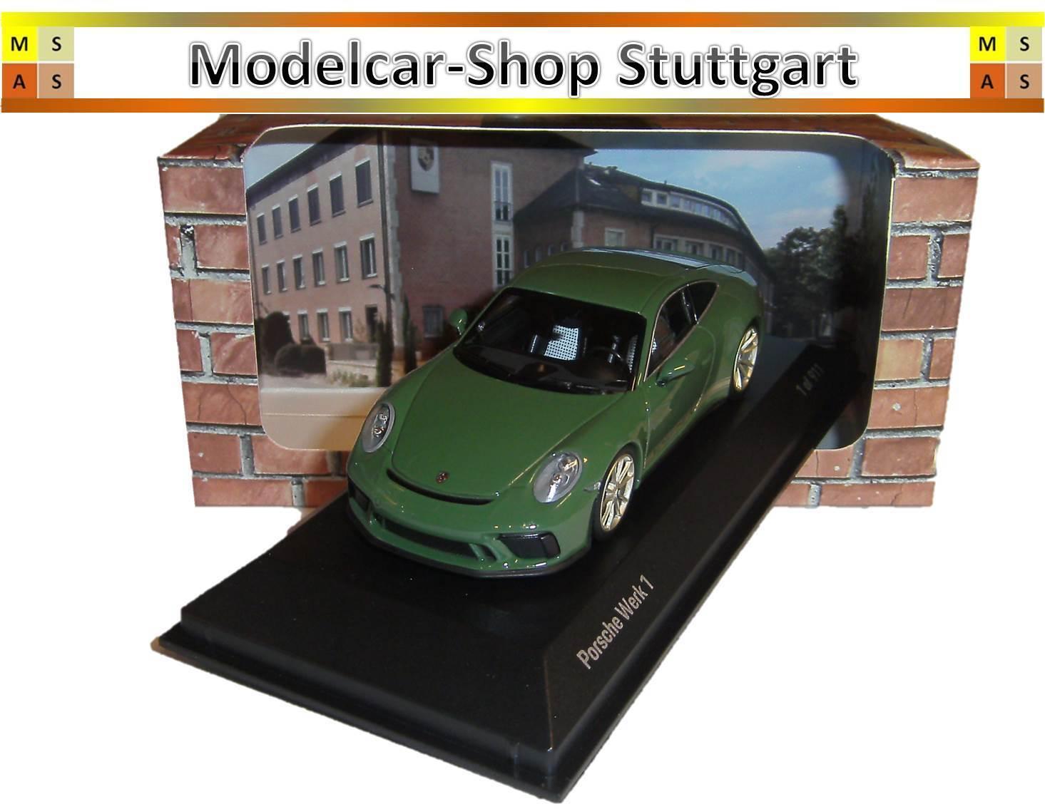 Porsche 911 gt3 touring pacchetto werk 1 auratiumgr ü n minichamps 1 43