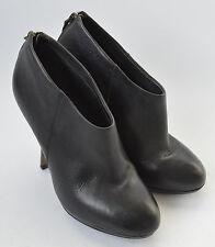 Ladies KG By Kurt Geiger Black Leather Shoe Boots Shoes Size Uk 7