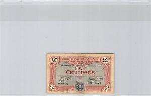 -kammer Handels- Der Deux-sèvres 50 Cent 13.11.1920 Serie 37 N° 001541