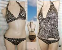 Jantzen Swimwear 3pc Bikini/tankini 12 Animal Print 2 Tops 1 Bottom