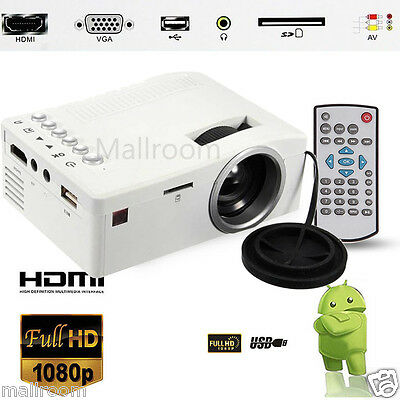 Beamer Mini Hd Led Projektor 1080p Cinema Home Theater Vga Usb Hdmi Sd Heimkino. QualitäTswaren