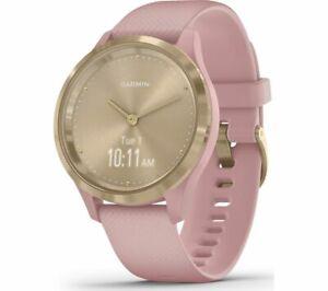 GARMIN vivomove 3S Smart Watch - Dust Rose & Light Gold   Currys