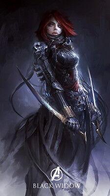 "002 Art Design Super Hero - Black Widow 14""x25"" Poster"