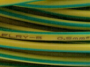 0.5mm2 x 3m FLRY-B cable Yellow Green for VAG VW SKODA AUDI SEAT MB BMW