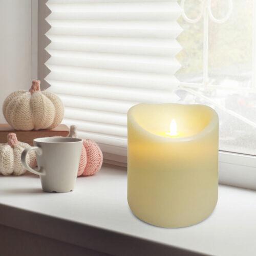 LED Tisch Lampe Wohn Zimmer Wachs Kerzen Leuchte Elfenbein Tisch Beleuchtung