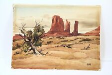 Monument Valley Desert Rock Landscape Howard Kearns Original Watercolor Painting