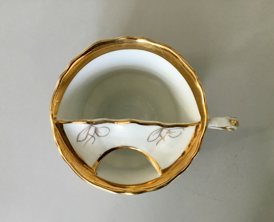 Porcelæn, Antik skægkop, ALTWASSER SILENSIA