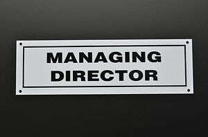 Image is loading Managing-Director-Door-Sign-Sticker-Plastic-&-Holed-  sc 1 st  eBay & Managing Director Door Sign - Sticker Plastic \u0026 Holed - Work ...