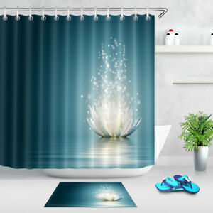 Image Is Loading Magic Lotus Flower On Water Shower Curtain Set