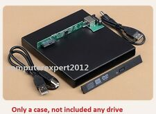 USB External Case Enclosure For 12.7mm SATA Laptop DVD Blu-ray Drive Burner ODD