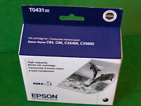 2018 Genuine Epson T0431 Black Ink Cartridge T043120 Stylus Cx6600 Cx6400 C86 84