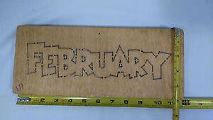 ACCUCUT ACCU CUT MONTH OF FEBRUARY DIE CUTTING SCRAPBOOKING WOODEN BLADE