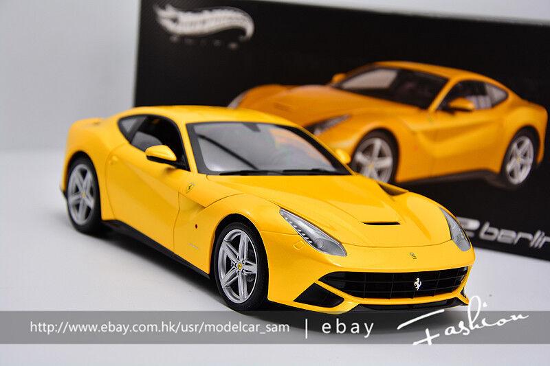 Hot wheels 1 18 Ferrari F12 Elite berlinetta yellow