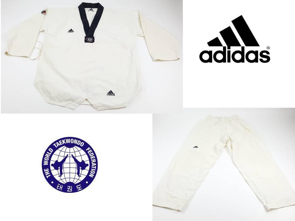 ADIDAS WTF Korean Taekwondo Unifom Size 3  Vintage 1990s Ivory 2pics  cheap wholesale