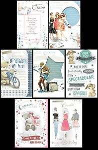 COUSIN - Quality Male or Female BIRTHDAY CARD - Lovely Words Choice of Designs
