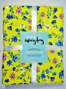 Floral-Tablecloth-Wolf-amp-Irving-Everyday-60-034-x-102-034-Water-Fade-Resistant-New