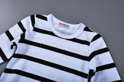 2PCS Toddler Baby Girls Outfits Stripe T Shirt Tops pants Kids Clothes Set