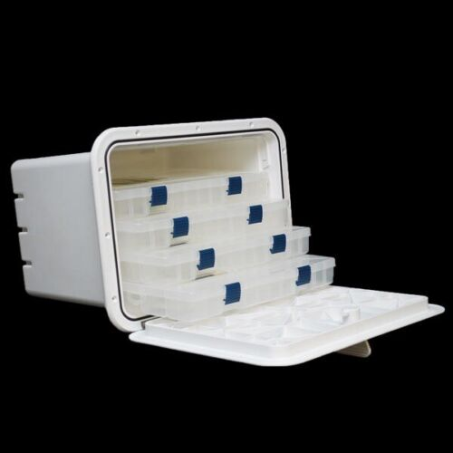 Innovative Products 530-205 13 x 17 Polar White Boat Tackle Box