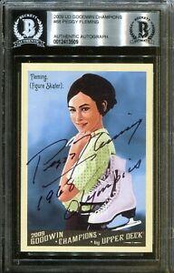 Peggy Fleming 1968 Olympics Signed Upper Deck Card Autograph BAS Beckett COA
