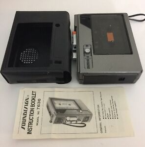 Vintage-Soundesign-7636-Cassette-Player-Recorder-for-Parts-or-Repair