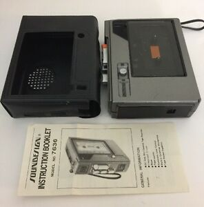 Vintage-Soundesign-7636-Cassette-Player-Recorder-fuer-Teile-oder-Reparieren