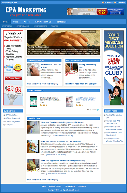 CPA GUIDE - Professionally Designed Affiliate Website - Free Installation
