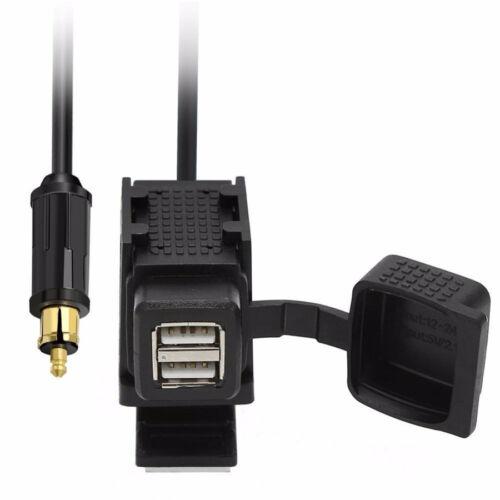 For BMW Motorcycle Dual USB GPS charger Power Socket+EU Plug w//Mounting Bracket