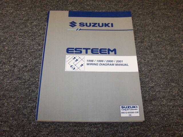 1998 1999 2000 2001 Suzuki Esteem Sedan Electrical Wiring Diagram Manual Gl Glx