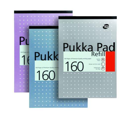 Pukka Pad A4 A5 Refill Pad Ruled Squared Margin Plain Paper 100-400 Graph