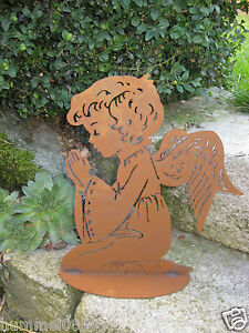 Edelrost Engel Dekoration Rost Eisen Metall Engel Garten Deko
