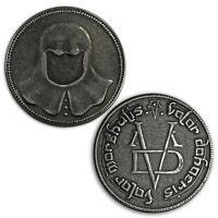 Game Of Thrones Iron Coin of the Faceless Man HBO Arya Stark Valar Morghulis New
