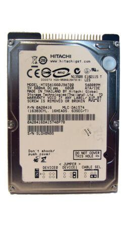 1 von 1 - Hitachi 60GB Intern IDE 2,5 Zoll HTS541616J9AT00 Laptop Festplatte (108109110)