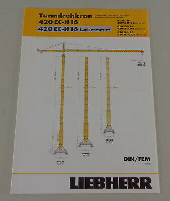 Datenblatt  Liebherr Turmdrehkran 420 EC-H 16 Litronic von 03//2004