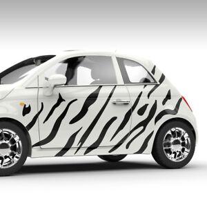 Aufkleber Camouflage Zebra Streifen Safari Tarnmuster Auto Dekorset