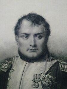 Rare gravure empereur Napoléon Bonaparte buste estampe