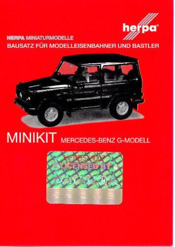 HERPA MiniKit 1:87//H0 PKW Mercedes-Benz G-Modell weiß Bausatz #012645-007 NEU