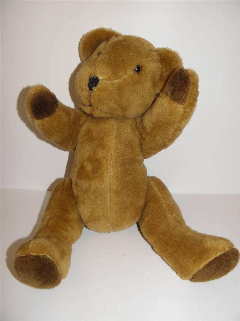 ADORABLE Vintage ANTIQUE Mocha braun Jointed TEDDY BEAR 17  Tall