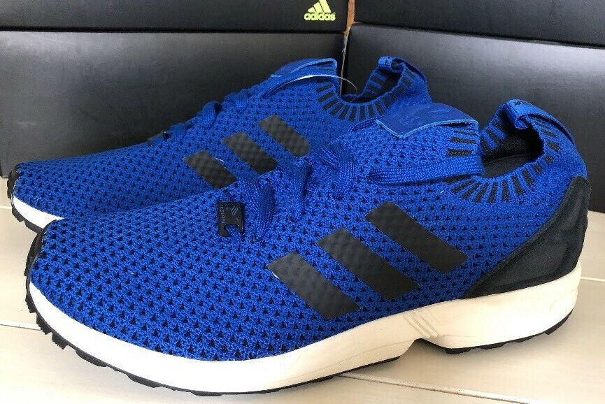 110 - New Men Adidas ZX Flux Primeknit Running shoes 11.5 bluee New Without Box