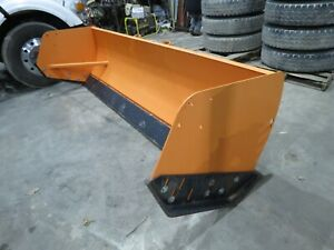 Details about 10' snow pusher with steel trippable cutting edge loader  backhoe skid steer NEW